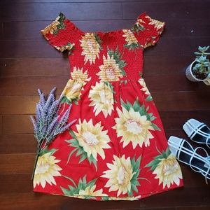 Mumu - Dolly Smocked Dress in Sunflower Fields